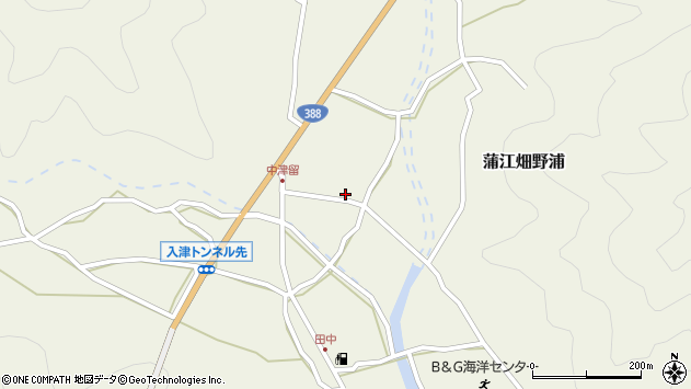 大分県佐伯市蒲江大字畑野浦1626周辺の地図