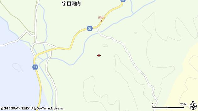 大分県佐伯市宇目大字河内下河内周辺の地図