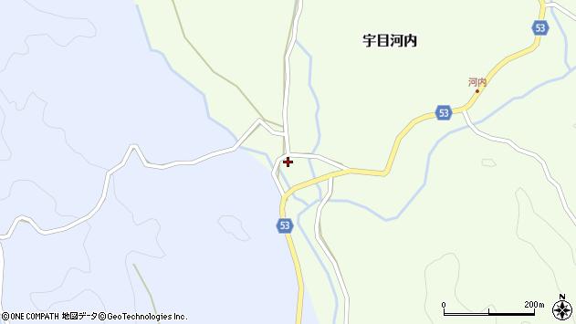 大分県佐伯市宇目大字河内692周辺の地図