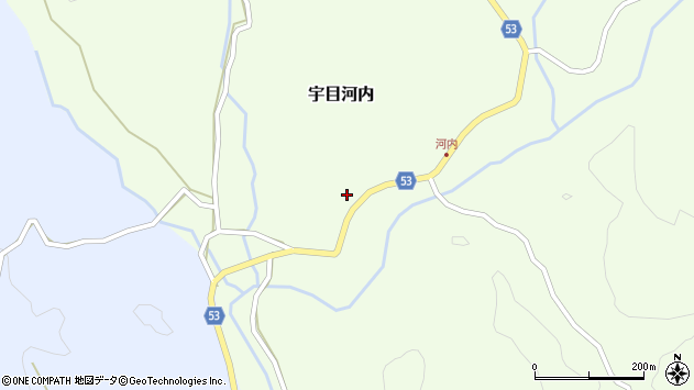 大分県佐伯市宇目大字河内270周辺の地図
