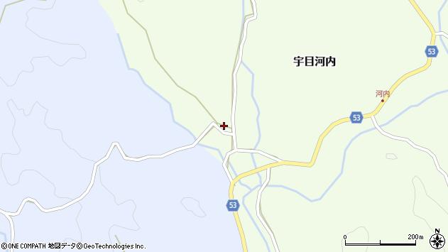 大分県佐伯市宇目大字河内705周辺の地図