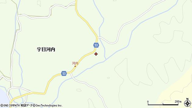 大分県佐伯市宇目大字河内443周辺の地図