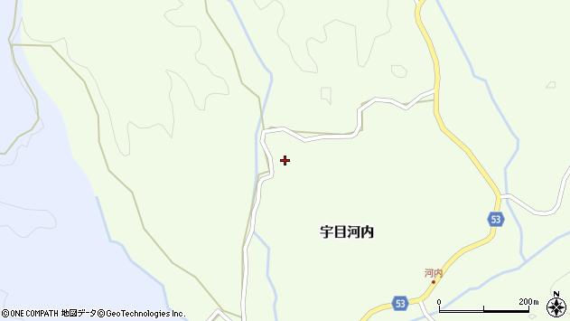 大分県佐伯市宇目大字河内373周辺の地図