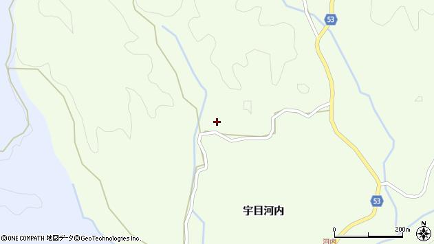 大分県佐伯市宇目大字河内610周辺の地図