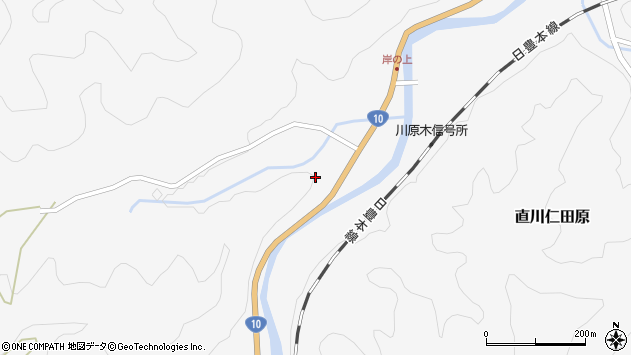 大分県佐伯市直川大字仁田原3563周辺の地図