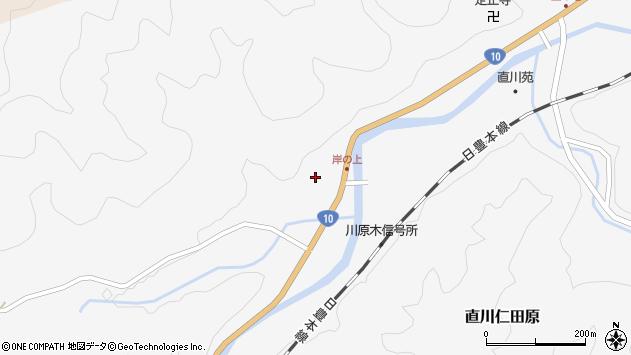 大分県佐伯市直川大字仁田原3997周辺の地図