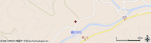 大分県佐伯市直川大字横川2327周辺の地図