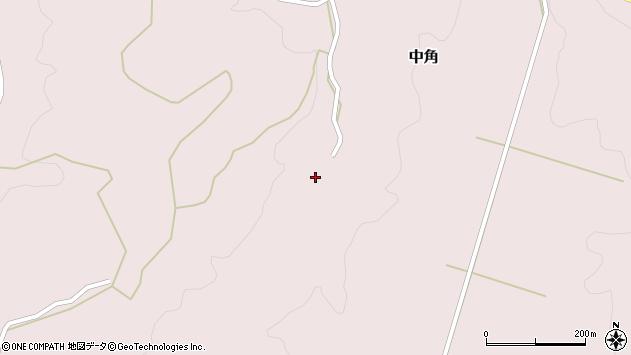 大分県竹田市中角235周辺の地図