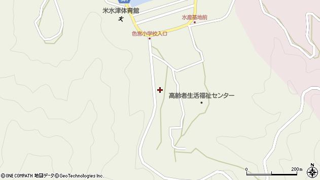 大分県佐伯市米水津大字色利浦1577周辺の地図