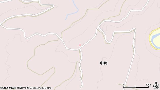 大分県竹田市中角37周辺の地図