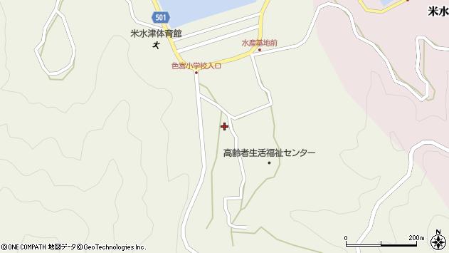 大分県佐伯市米水津大字色利浦1569周辺の地図