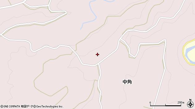 大分県竹田市中角34周辺の地図