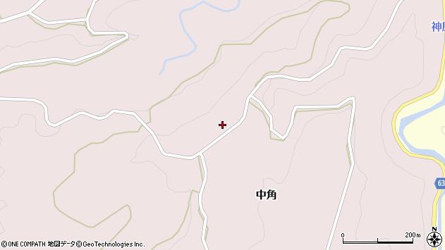 大分県竹田市中角27周辺の地図