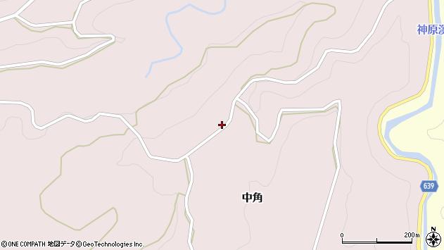 大分県竹田市中角25周辺の地図