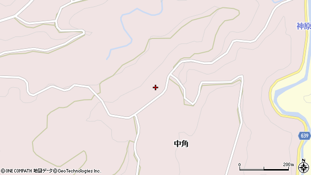 大分県竹田市中角24周辺の地図