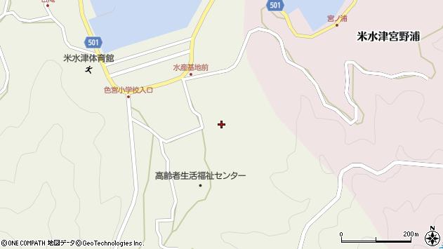 大分県佐伯市米水津大字色利浦1762周辺の地図