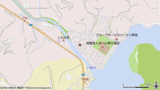 長崎県長崎市琴海戸根町周辺の地図