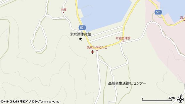 大分県佐伯市米水津大字色利浦1528周辺の地図