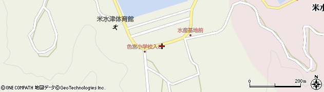 大分県佐伯市米水津大字色利浦1534周辺の地図