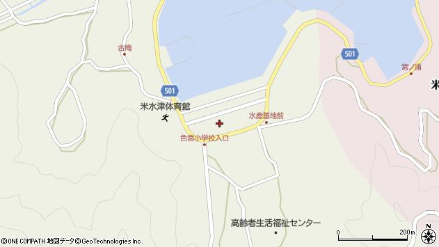 大分県佐伯市米水津大字色利浦1533周辺の地図