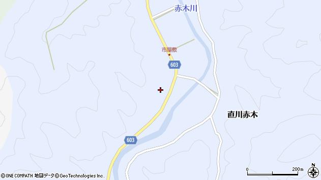 大分県佐伯市直川大字赤木560周辺の地図