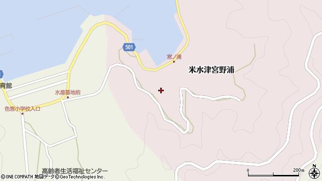 大分県佐伯市米水津大字宮野浦142周辺の地図