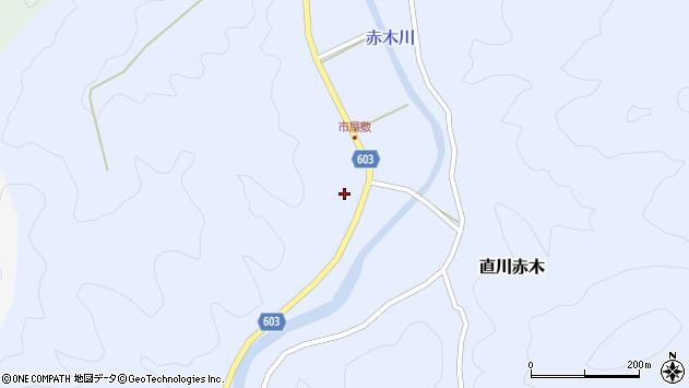 大分県佐伯市直川大字赤木555周辺の地図