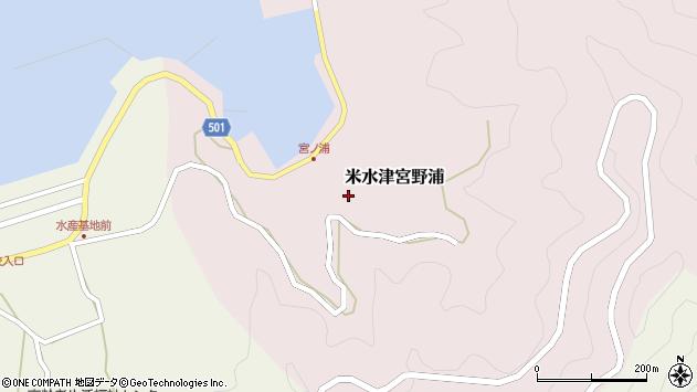 大分県佐伯市米水津大字宮野浦171周辺の地図