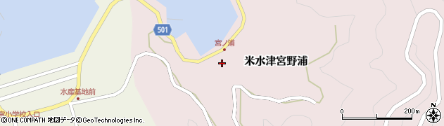 大分県佐伯市米水津大字宮野浦147周辺の地図