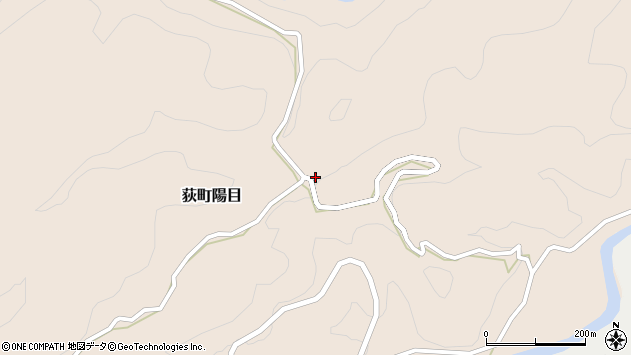 大分県竹田市荻町陽目203周辺の地図