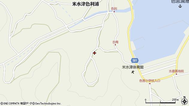 大分県佐伯市米水津大字色利浦1450周辺の地図