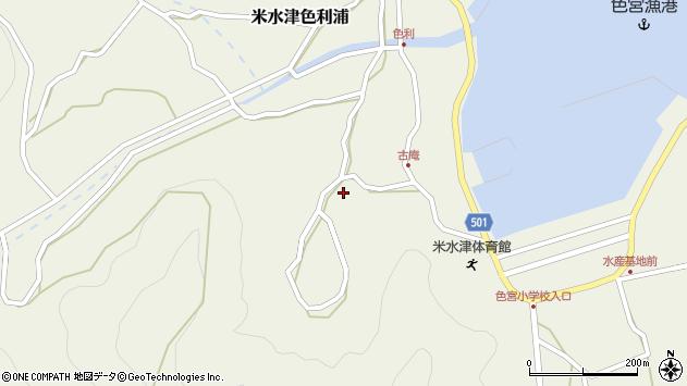 大分県佐伯市米水津大字色利浦1510周辺の地図