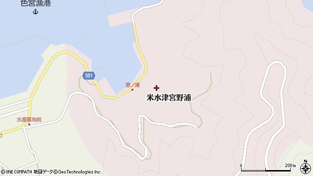大分県佐伯市米水津大字宮野浦368周辺の地図