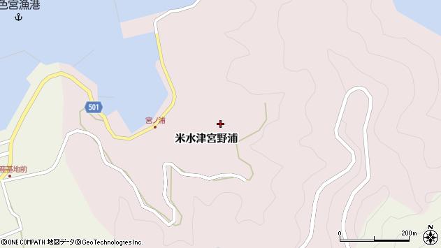 大分県佐伯市米水津大字宮野浦423周辺の地図