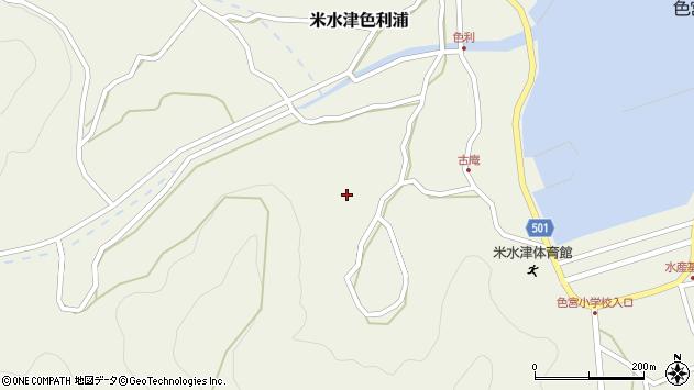 大分県佐伯市米水津大字色利浦1387周辺の地図