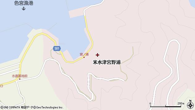 大分県佐伯市米水津大字宮野浦382周辺の地図