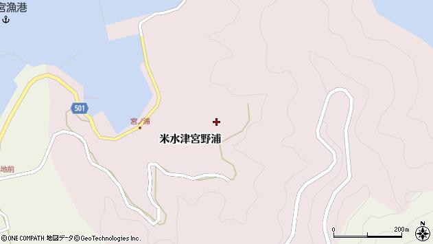 大分県佐伯市米水津大字宮野浦436周辺の地図
