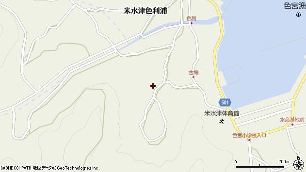 大分県佐伯市米水津大字色利浦1442周辺の地図