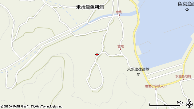 大分県佐伯市米水津大字色利浦1443周辺の地図