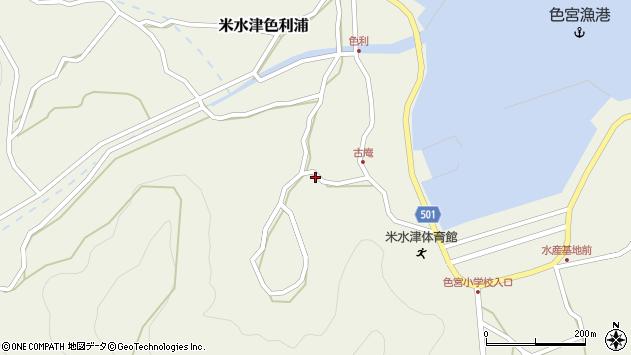 大分県佐伯市米水津大字色利浦1511周辺の地図