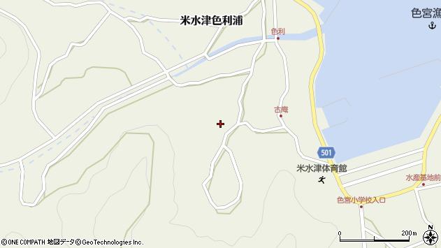 大分県佐伯市米水津大字色利浦1446周辺の地図
