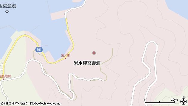 大分県佐伯市米水津大字宮野浦605周辺の地図