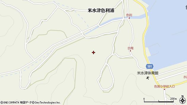 大分県佐伯市米水津大字色利浦1388周辺の地図