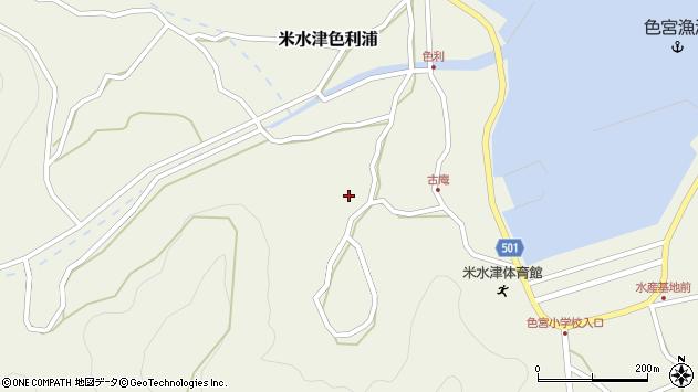 大分県佐伯市米水津大字色利浦1449周辺の地図