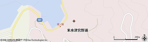 大分県佐伯市米水津大字宮野浦391周辺の地図