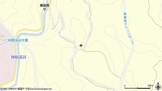 大分県竹田市神原340周辺の地図