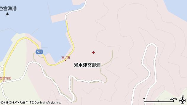 大分県佐伯市米水津大字宮野浦602周辺の地図