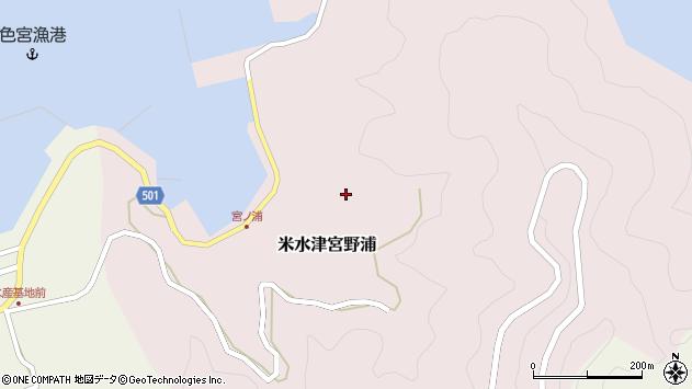 大分県佐伯市米水津大字宮野浦601周辺の地図