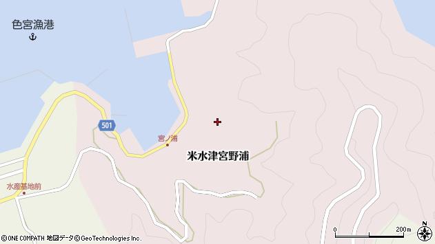 大分県佐伯市米水津大字宮野浦610周辺の地図
