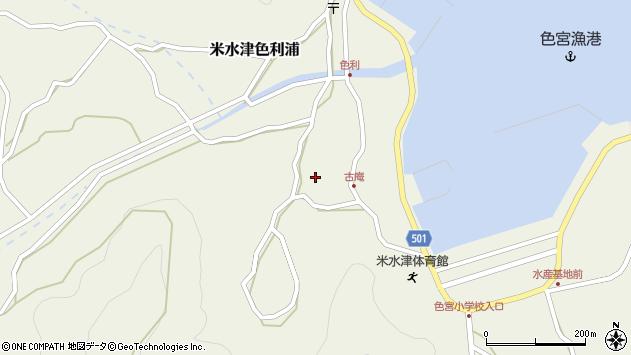 大分県佐伯市米水津大字色利浦1340周辺の地図